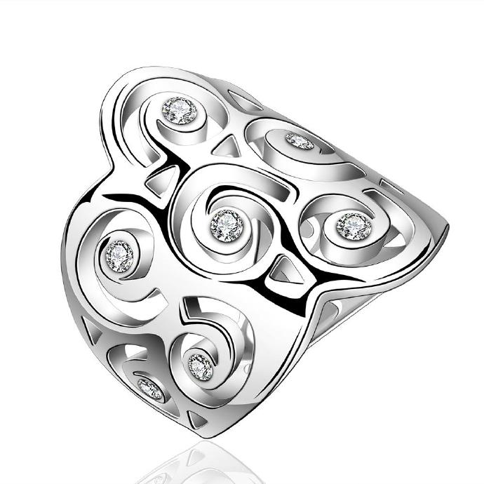 Jenny Jewelry R576 Silver Plated New Design Lady Ring