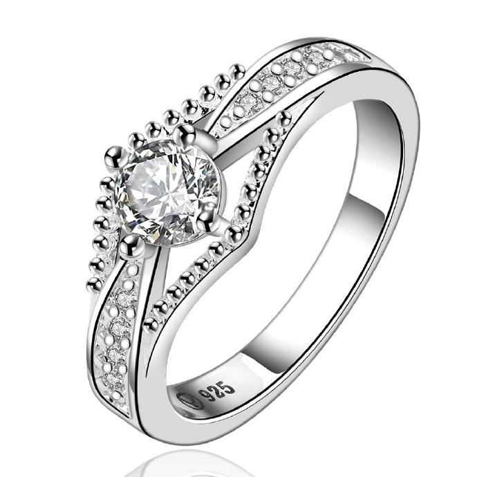 Jenny Jewelry R597 Silver Plated New Design Lady Ring