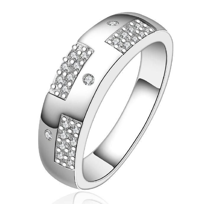 Jenny Jewelry R617 Silver Plated New Design Lady Ring