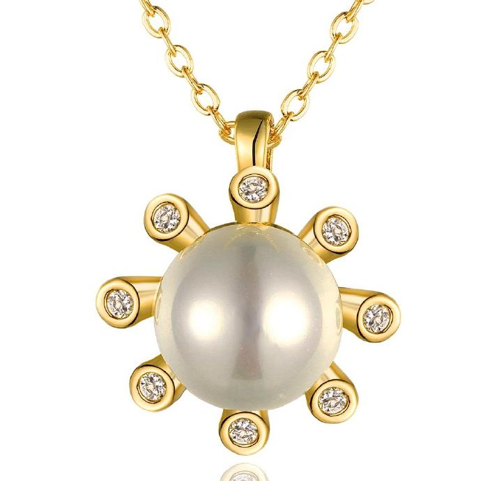 Jenny Jewelry N849-A 18K Real Gold Plated Necklace pendants New Fashion Jewelry