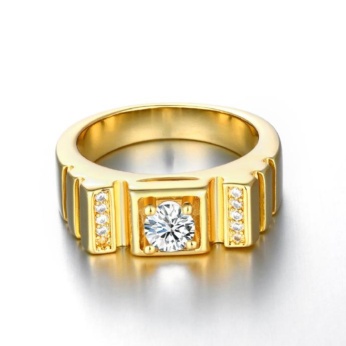 Jenny Jewelry R131-A-8 High Quality New Fashion Jewelry 24K Plated zircon Ring ,Available Size 7,8