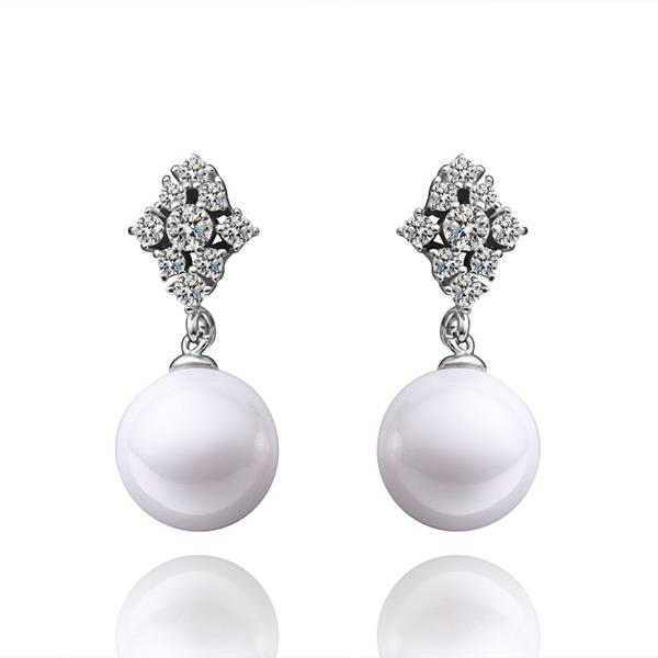 Jenny Jewelry E025 Brilliant Tiny Artificial Pearl Earring