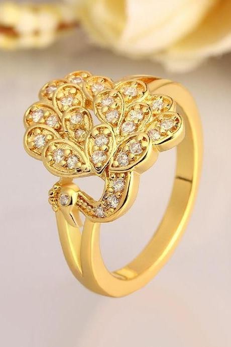 High Quality New Fashion Jewelry 18K Plated zircon Ring