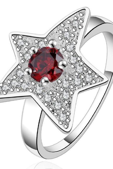 Jenny Jewelry R551-8 Silver Plated New Design Lady Ring