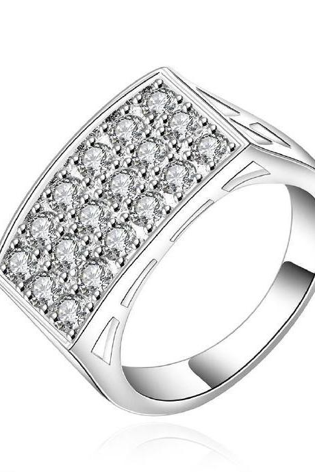 Jenny Jewelry R553-8 Silver Plated New Design Lady Ring