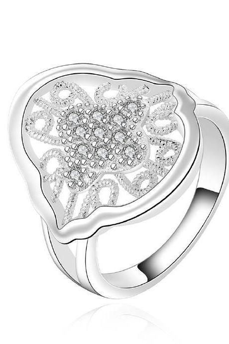 Jenny Jewelry R554-8 Silver Plated New Design Lady Ring