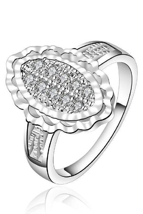 Jenny Jewelry R558-8 Silver Plated New Design Lady Ring