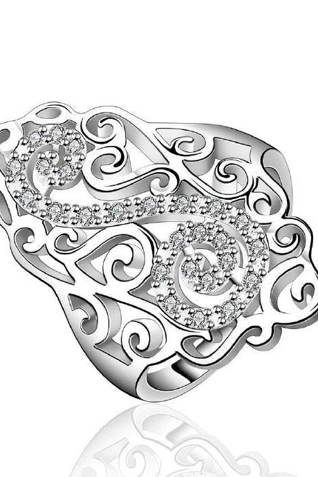 Jenny Jewelry R579 Silver Plated New Design Lady Ring