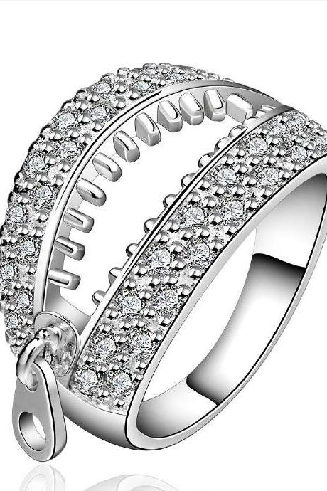 Jenny Jewelry R585 Silver Plated New Design Lady Ring