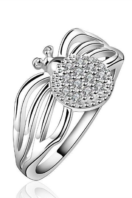 Jenny Jewelry R588 Silver Plated New Design Lady Ring