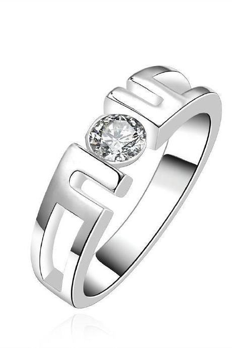 Jenny Jewelry R604 Silver Plated New Design Lady Ring