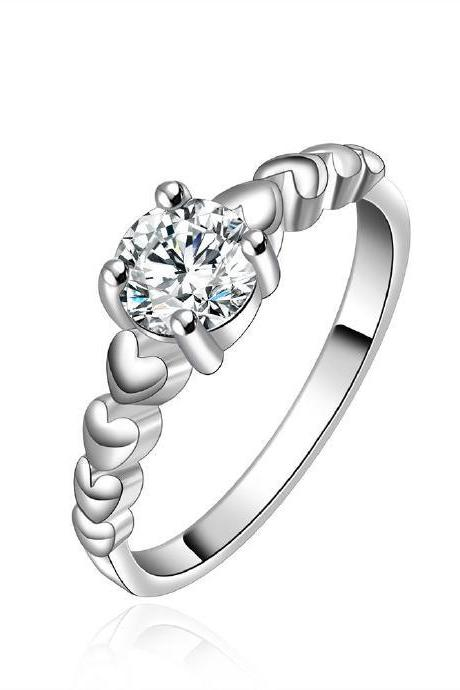Jenny Jewelry R606 Silver Plated New Design Lady Ring