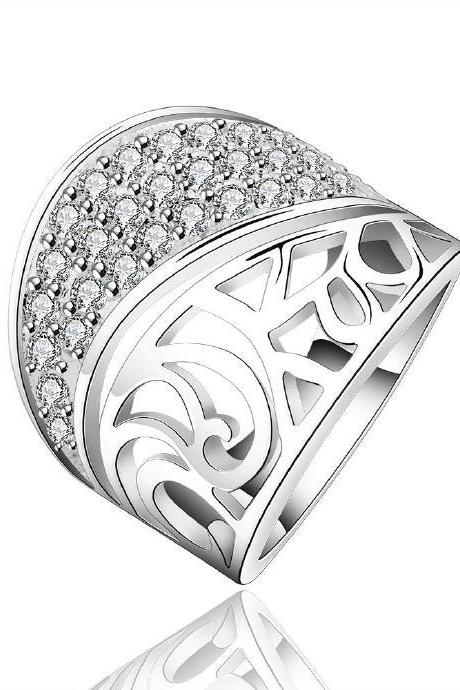 Jenny Jewelry R612 Silver Plated New Design Lady Ring