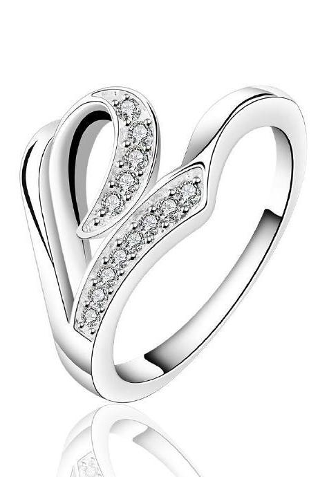 Jenny Jewelry R621 Silver Plated New Design Lady Ring