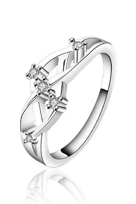 Jenny Jewelry R622 Silver Plated New Design Lady Ring