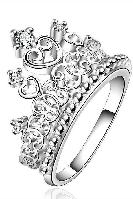 Jenny Jewelry R629 Silver Plated New Design Lady Ring