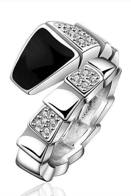 Jenny Jewelry R632 Silver Plated New Design Lady Ring