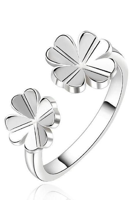 Jenny Jewelry R636 Silver Plated New Design Lady Ring ,Available Size 8