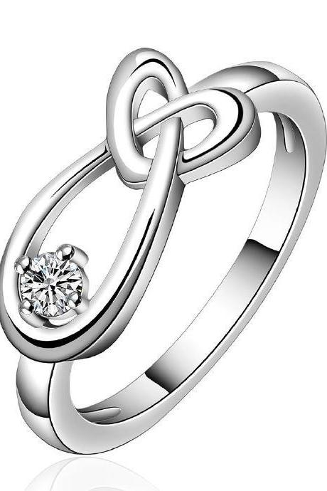 Jenny Jewelry R658 Silver Plated New Design Lady Ring