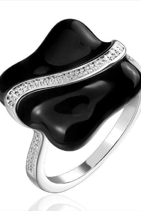 Jenny Jewelry R672 Silver Plated New Design Lady Ring