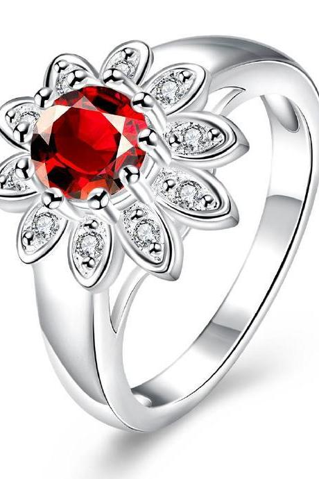 Jenny Jewelry R731 Silver Plated New Design Lady Ring