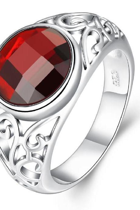 Jenny Jewelry R734 Silver Plated New Design Lady Ring