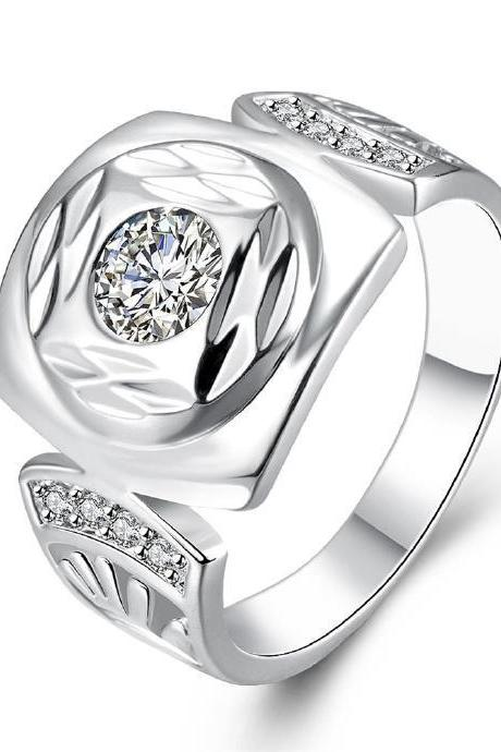 Jenny Jewelry R743 Silver Plated New Design Lady Ring