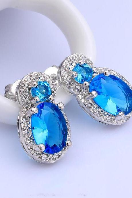 Jenny Jewelry FVRE011 Elegant Big Crystal Fashion Zircon Stud Earring