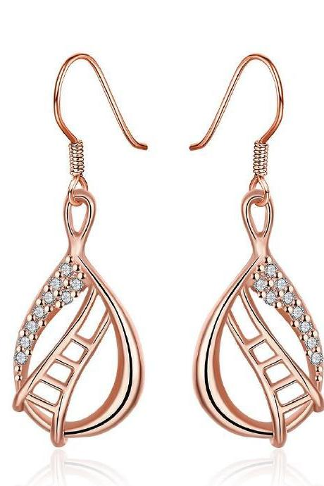 Jenny Jewelry E002-B 18K Gold Plating High Quality Ziccon Fashion Earring