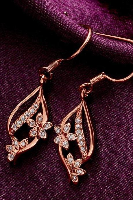 Jenny Jewelry E007-B 18K Gold Plating High Quality Ziccon Fashion Earring