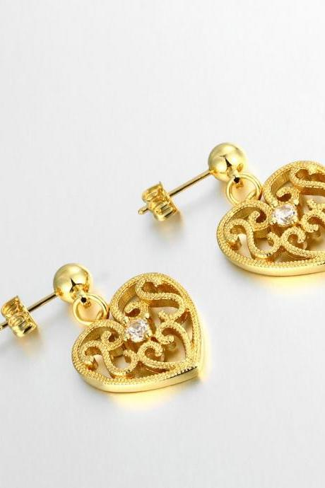 Jenny Jewelry E053-A 18K Gold Plating High Quality Ziccon Fashion Earring