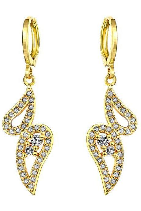 Jenny Jewelry E059-A 24K Gold Plating High Quality Zircon Fashion Earring