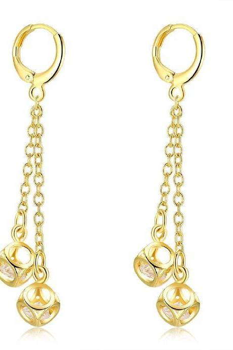 Jenny Jewelry E067-A 18K Gold Plating High Quality Ziccon Fashion Earring