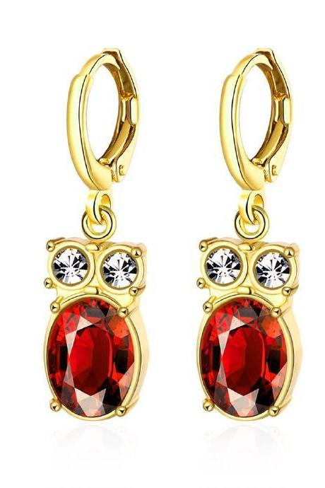 Jenny Jewelry E088 18K Gold Plating High Quality Ziccon Fashion Earring