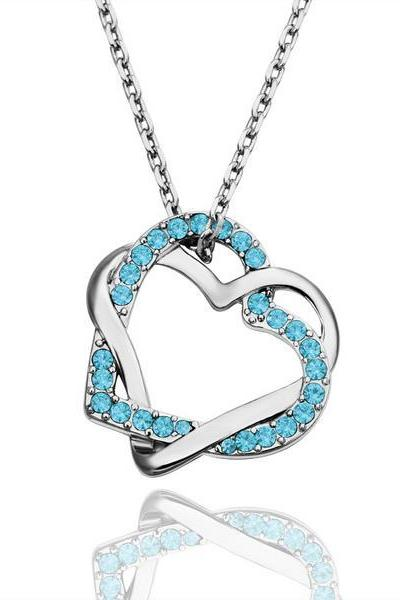 Jenny Jewelry N006 18K Real Gold Plated Necklace Heart pendants New Fashion Jewelry