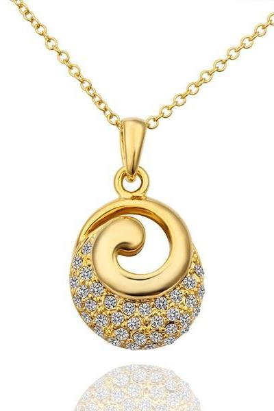 Jenny Jewelry N609 18K Real Gold Plated Women Unique Style Fashion Jewellery