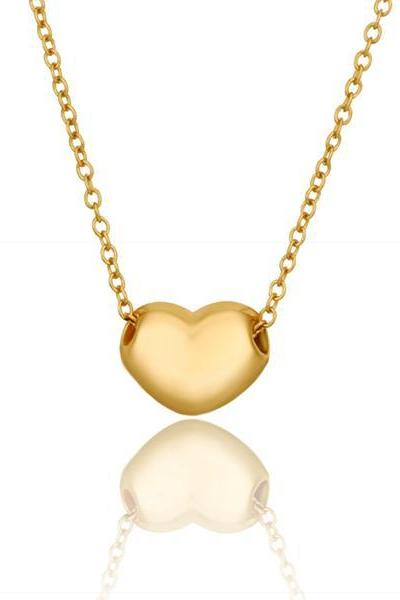 Jenny Jewelry N638 18K Real Gold Plated Women Hollow Golden Heart Shape Jewellery