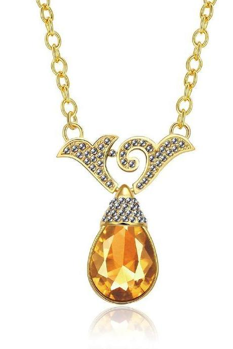 Jenny Jewelry N767 18K Real Gold Plated Necklace pendants New Fashion Jewelry
