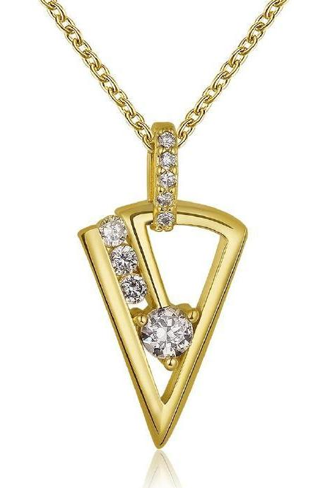 Jenny Jewelry N809-A 18K Real Gold Plated Necklace pendants New Fashion Jewelry