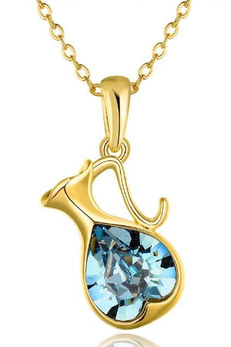Jenny Jewelry N844-A 18K Real Gold Plated Necklace pendants New Fashion Jewelry