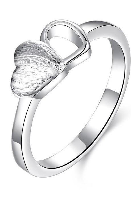 Jenny Jewelry R753 Silver Plated New Design Lady Ring ,Available Size 7,8