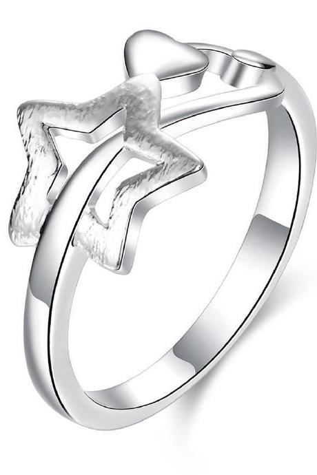 Jenny Jewelry R754 Silver Plated New Design Lady Ring ,Available Size 7,8