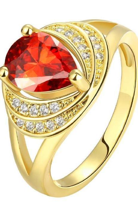 Jenny Jewelry R140-A-8 High Quality New Fashion Jewelry 24K Plated zircon Ring