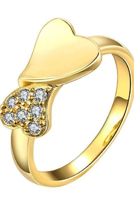 Jenny Jewelry R155-A-8 High Quality New Fashion Jewelry 24K Plated zircon Ring