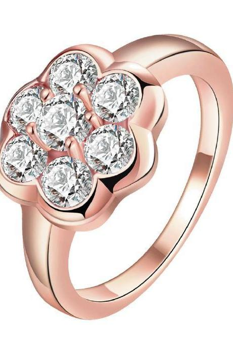 Jenny Jewelry R162-A-8 High Quality New Fashion Jewelry 18K Plated zircon Ring