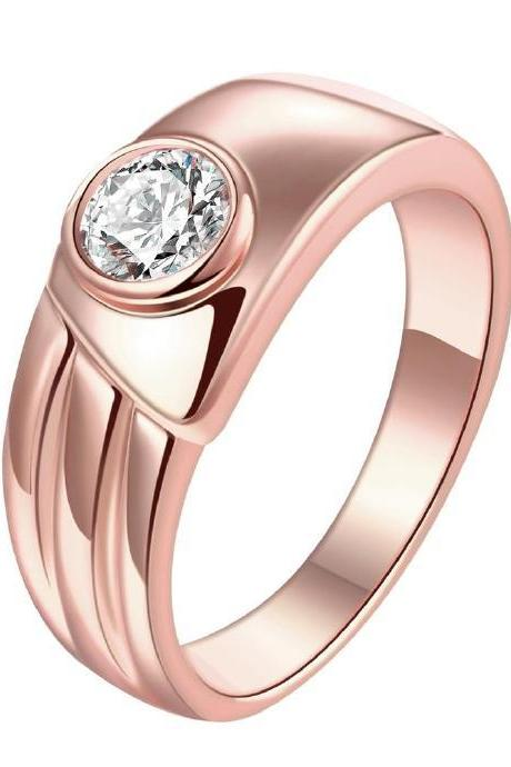 Jenny Jewelry R194-A-8 High Quality New Fashion Jewelry 18K Plated zircon Ring