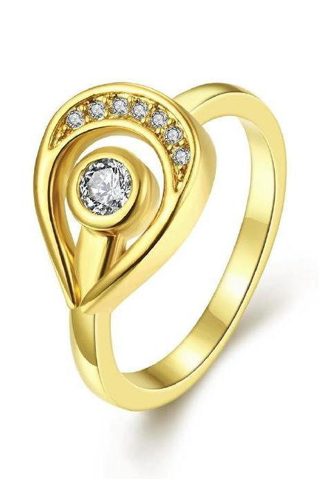 Jenny Jewelry R213-A-8 High Quality New Fashion Jewelry Gold Plated zircon Ring
