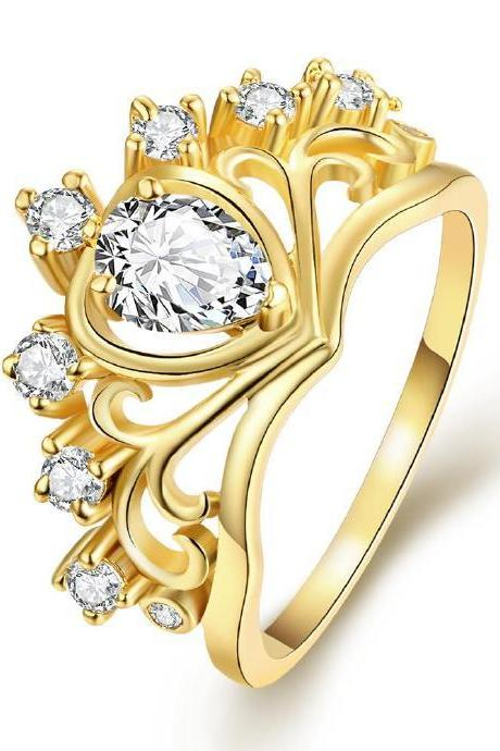 Jenny Jewelry R231-A-8 High Quality New Fashion Jewelry White Plated zircon Ring ,Available Size 7,8