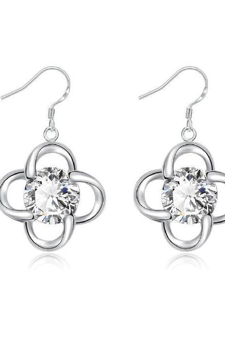 Jenny Jewelry E642 wholesale cubic zircon silver Earring