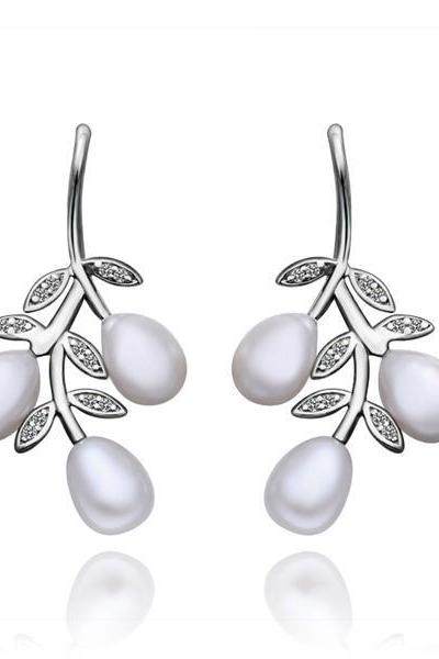 Jenny Jewelry E008 Brilliant Tiny Artificial Pearl Earring